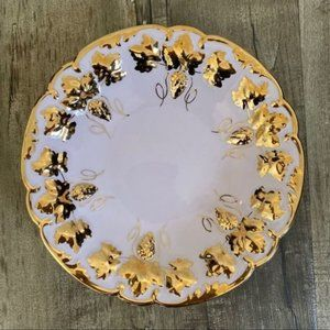 Heinrich H&C Decorative Pink Gold China Plate 10""